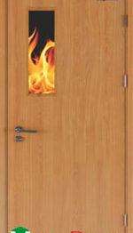 Cửa gỗ chống cháy - GCC.P1G1