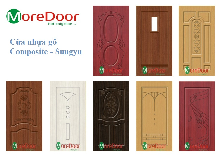 Một số mẫu cửa nhựa gỗ Composite.